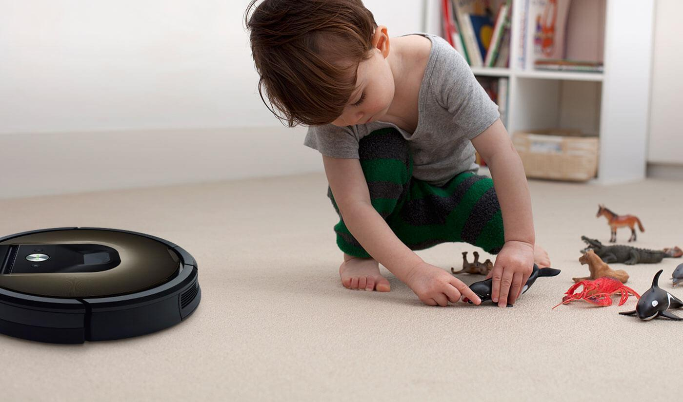 Roomba vacuum cleaning